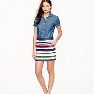 J. Crew Striped Mini Skirt Multicolored Size 4